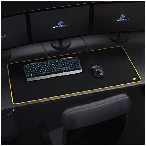 Alfombrilla de ratón para Gaming 900x400 mm - Mousepad XXL para ratón Grande con diseño - Base de Mesa de tamaño Grande… 6