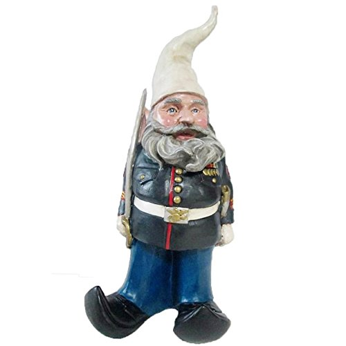 Nowaday Gnomes - 'Ooh Rah Marine Gnome Military Soldier Dress Blues with Sword Home & Garden Gnome Statue 14' H