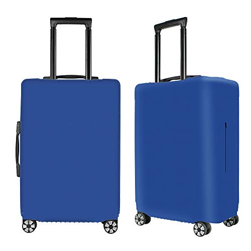 Washable Luggage Cover Spandex Suitcase Cover Protective Fits 19-33inch Luggage Zipper Carry On Covers Blue