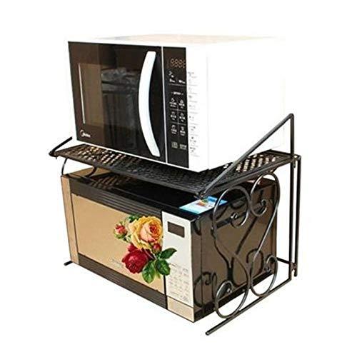 OSL Rastrelliere per Microonde, Rastrelliere da Cucina Europee in Ferro, Rastrelliere per Forno a Pavimento, Rastrelliere per Condimenti, Rastrelliere per Microonde Organizzazione/Bronze /