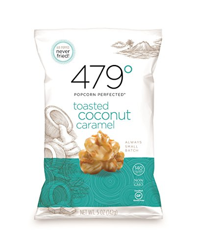 479 Degrees Artisan Popcorn, Toasted Coconut Caramel, 5 Ounce