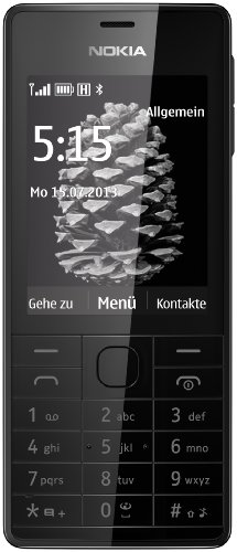 Nokia 515 DE Smartphone ( 6,1 cm (2,4 Zoll) Farbdisplay, 5 Megapixel Digitalkamera, Bluetooth 3.0) schwarz