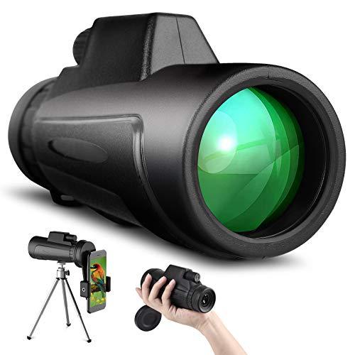 SKYSPER Monokulare Teleskop für Erwachsene 8x42 Kompakt HD Fernglas BAK4 FMC Prisma Nachtsicht mit Telefonhalter für Vogelbeobachtung Camping Wandern Jagen Konzert Theater