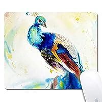 天然ゴムマウスパッド色の孔雀絵画ノンスリップゴムマウスパッドゲーミングマウスマット