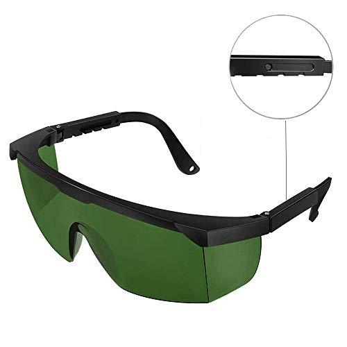 H&L Laserschutzbrille Lichtschutzbrille für HPL IPL Haarentfernung, Einstellbar IPL Haarentfernungsgerät Brille Abgedeckt von 200 zu 3000 Nanometern, Dunkelgrün
