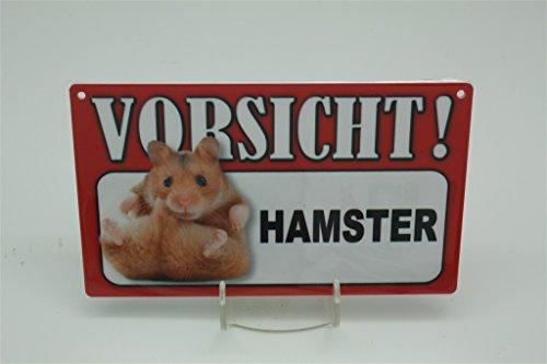 HAMSTER - Tierwarnschild - VORSICHT Tier Warnschild 20x12 cm Schild 58