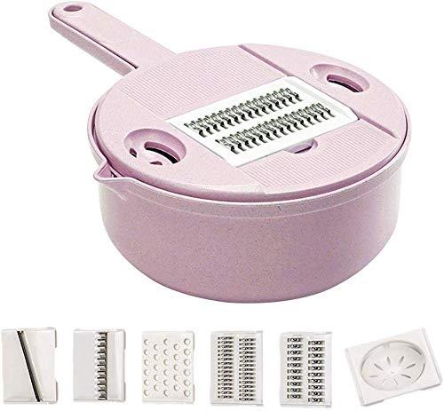 XYNB Coupe-Fil 9 en 1 Éplucheur De Légumes Spiralizer Kit Broyeur De Cuisine Râpe Oeuf Séparateur Blanc avec Accessoires De Cuisine (Couleur, A), A