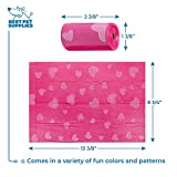 Best Pet Supplies Dog Poop Bags for Waste Refuse Cleanup, Doggy Roll Replacements for Outdoor Puppy Walking and Travel, Leak Proof and Tear Resistant, Thick Plastic - Pink Heart, 150 Bags (PH-150B)