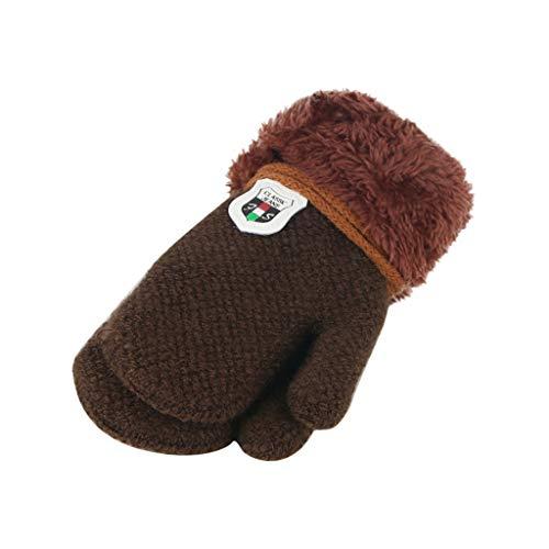 Pour enfants Anti-rayures Pour l/'hiver FakeFace Moufles unisexes pour b/éb/é De 0 /à 6 mois En cachemire