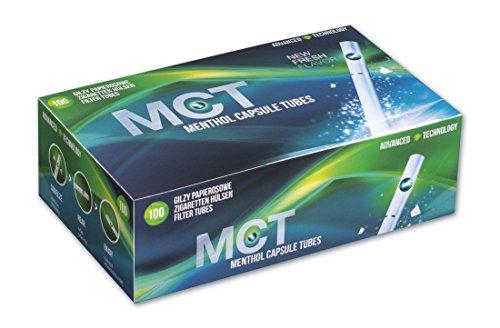 MCT Menthol Capsule Tubes Clickhülsen mit Menthol 10 Boxen (1000 Hülsen)