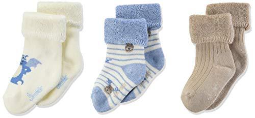 Sterntaler Jungen Baby-Söckchen 3er-Pack Drache für Babys & Kleinkinder, weiß/blau/braun, 17-18