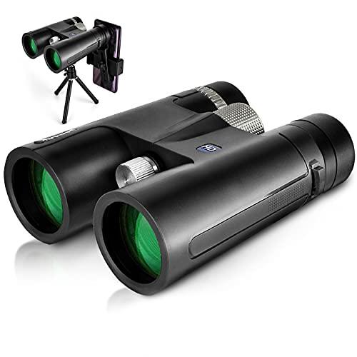 Fernglas 12x42 HD Kompaktes, Wasserdichtes und Beschlagfreies Zoom-Fernglas Mit Ultraklarem Sichtfeld Kann für Reisen, Tierbeobachtung und Wettkämpfe Verwendet Werden