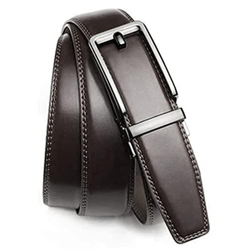 QiKun-Home Falso cinturón de acupuntura cinturón de Hebilla automática aleación cinturón de Hebilla automática Aguja Falsa Clip de Moda Casual cinturón de Hombre marrón