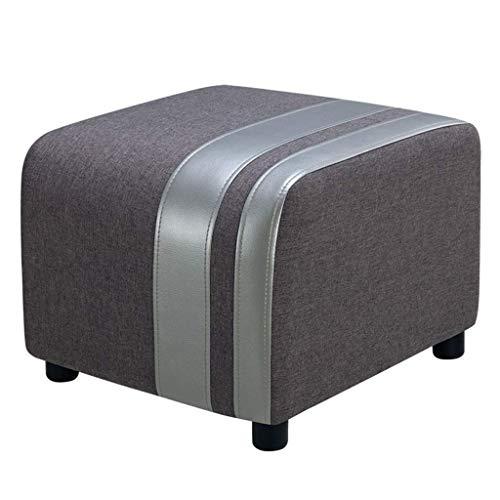 THBEIBEI Otomans - Taburete reposapiés con pedal de pie para sentarse, aspecto decorativo, cojín suave para asiento cómodo para niños pequeños, banco de pasillo (color gris oscuro)