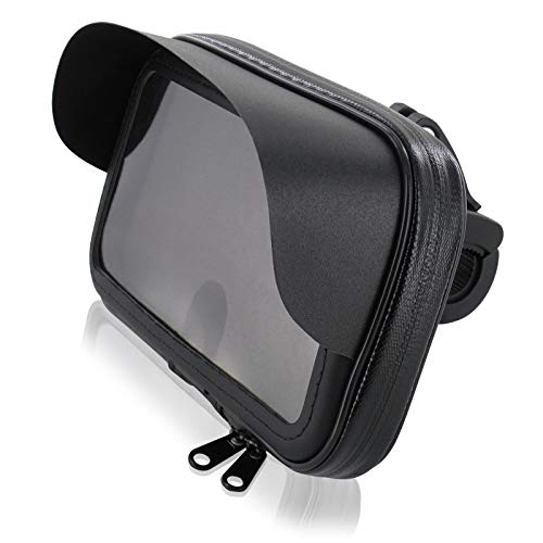 FM24 Motorrad Fahrrad Handyhalterung Tasche Hülle mit Sonnendach für Smartphone Handy Navi GPS bis max. 160 x 90 mm