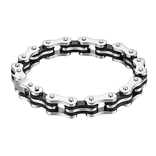 Armband-Fahrrad-Ketten-stulpe-Armband Herren Armband Herrenschmuck Hochleistungs-Edelstahl-Silber Mountain Bike Accessoires Für Männer