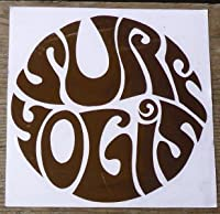 SURF YOGIS(サーフヨギ サンクリーン) sticker シール ロゴステッカー 8cm BROWN(ブラウン)
