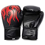 Okuna Outpost Boxing Gloves for Men and Women, Punching Mitts (7 x 10.75 x 6 in, Black)