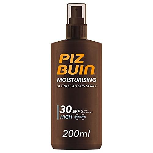 Piz Buin, Moisturising Protector Solar en Spray, SPF 30, Protección Alta, 200 ml