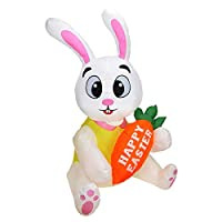Lapin gonflable de 52 pieds: Ce gonflable peut décorer votre cour extérieure et il améliore également l'atmosphère festive et en même temps il est plus léger et plus pratique que les autres pneumatiques C'est un superbe lapin carotte lumineux gonflab...
