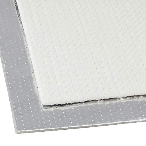 DL-Racing 50x100cm Alu-Fiberglas Hitzeschutzmatte selbstklebend Isoliermatte Hitzeschutzfolie   5mm