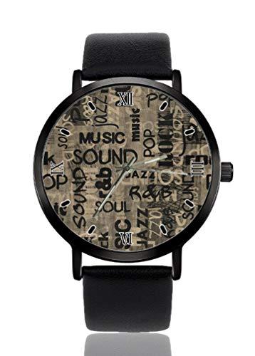 Pop Music Sound Damen Armbanduhr Ultra Dünn Gehäuse Extrem Einfache Analog Armband Damen Ultra Dünn Armbanduhr Japanisches Quarzwerk