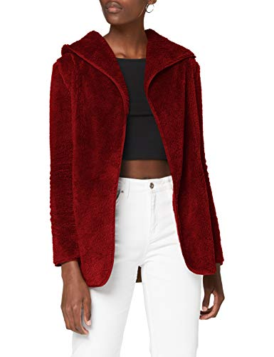 Only ONLNEWCONTACT Hooded Sherpa Coat OTW Chaqueta, Fired Brick, XL