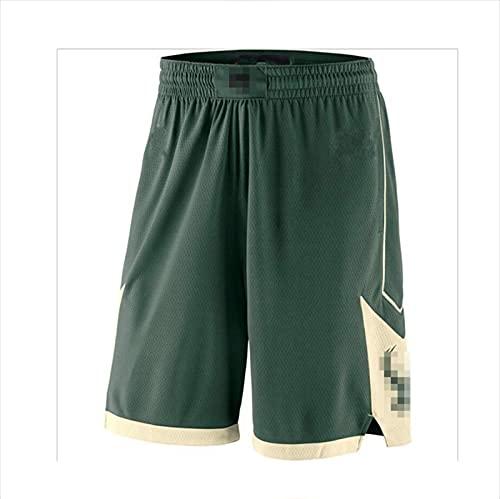 JX-PEP Pantaloncini da Basket da Uomo, Pantaloncini Traspiranti ad Asciugatura Rapida, Abbigliamento Sportivo, Pantaloncini Sportivi,Verde,M