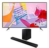 Samsung QN85Q60TA 85' QLED Ultra High Definition Smart UHD 4K TV with a Samsung HW-Q60T Wireless 5.1 Channel Soundbar and Bluetooth Subwoofer (2020)