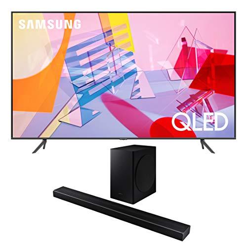 "Samsung QN75Q60TA 75"" Ultra High Definition 4K Quantum HDR Smart QLED TV with a Samsung HW-Q60T Wireless 5.1 Channel Soundbar and Bluetooth Subwoofer (2020)"