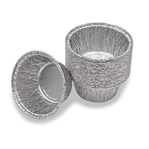 Mamatura 25 runde Aluschalen Ab-Tropfschalen Grillschalen | Passend für viele gängige Grill-Modelle mit runden Auffangbehältern | Char-Broil Landmann Disposal drip Pans