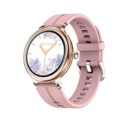 YNLRY Nuevo reloj inteligente para mujer, modos multideportes, monitoreo de la presión arterial del ritmo cardíaco, para Android IOS IP68, resistente al agua, reloj inteligente (color: silicona rosa)
