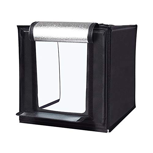 Foto Zelte Fotostudio Zelt LED Dimmbare Studio Kein Stroboskop-Handy-Kamera Kann Schießen Operate Tent Abdeckung Portable Light Box Kit YYFANG (Color : Black, Size : 40x40x40cm)