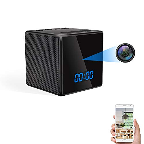 Telecamera Spia Nascosta WiFi TANGMI Spy Cam Bluetooth Speaker Sveglia HD Wireless Microcamere Spia Motion Detection Visione Notturna