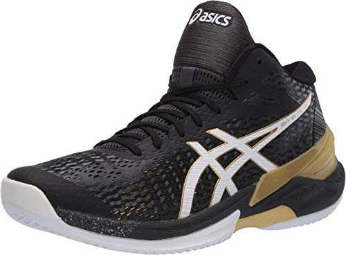 ASICS Men's Sky Elite FF MT Volleyball Shoes, 12M, Black/Gold