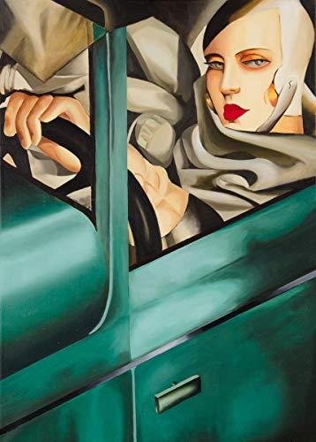 Tamara De Lempicka Giclée Tela Stampa La Pittura Poster Riproduzione (Autoritratto in Bugatti Verde)