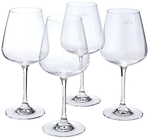 Villeroy & Boch Ovid Bicchiere da Vino Rosso, 590 ml, Cristallo, Set 4 Pezzi