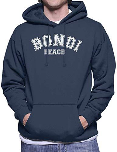 Bondi Beach College Text Men's Hooded Sweatshirt S