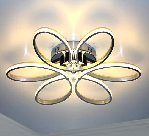 Dimmbar Warmweiß + FB XL 60cm LED Deckenlampe Deckenleuchte Blume Design Leuchte Lampe 48W Lewima Sakura