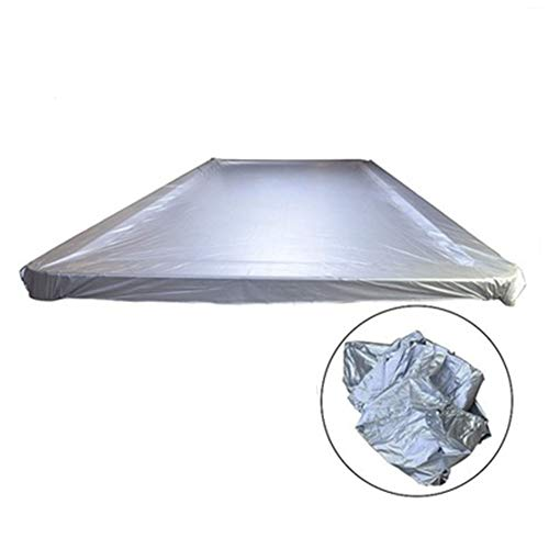 YB Patio Furniture Covers Patio Table Covers Dust Cover Billiards Waterproof Windproof Protective PVC Coating (Color : Silver, Size : 12ft)