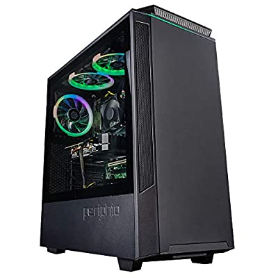 Periphio Phantom Gaming PC Tower Desktop Computer, Intel Quad Core i7 3.3GHz, 16GB RAM, 512GB SSD + 1TB 7200 RPM HDD, Windows 10, GTX 1660 Super 6GB Graphics Card, HDMI, Wi-Fi (Renewed)