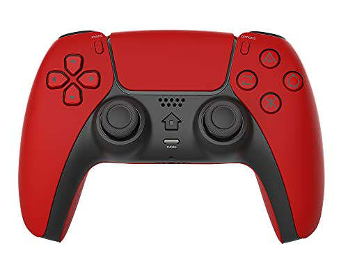 PS4 コントローラー 【最新改良】 PS4コントローラー プレステ4コントローラー - 新たにTurbo機能、800mAhの大容量バッテリーBluetooth接続 二重振動 ジャイロセンサー機能 イヤホンジャック タッチパッドやビルトインスピーカー搭載 ゲームパット PS4/PS3/PC対応 日本語取扱説明書(赤)…