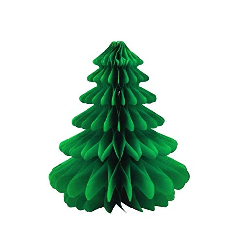 Decoración De Fiesta 6Pcs 27Cm Christmas TreeHoneycombs Tissue Paper Trees Centerpiece Table Center For Christmas Decorations,6Pcs Green