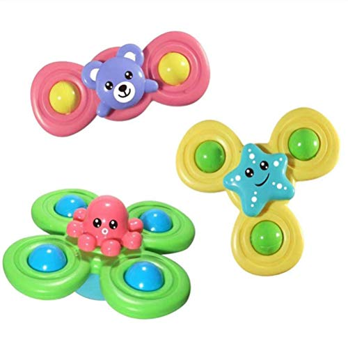 Tianlun Fingers Hand Spinners, Spin Sucker Spinning Top Spinner Toy, Safe Interesting Table Sucker Gameplay Juguetes para Principiantes para bebés Juguetes Niños Niños Juego de 3
