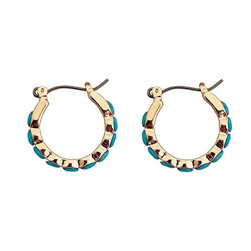 CHENYUXIA Pendientes redondos, pendientes de aro, retro, de metal, colgantes geométricos, para mujeres y niñas, regalo para mujeres, joyas