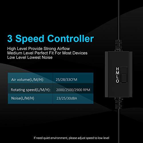 ELUTENG 120mm USB Lüfter  L/M/H 3 Bild 6*