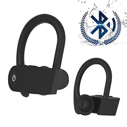Wireless Earbuds, Bluetooth Headset V5.0 EDR, HiFi Noise Reduction Sports Subwoofer Earbuds, IPX7 Waterproof, Built-in HD Microphone, Fast Charging, Suitable for iPhone Apple Airpods Android Samsung