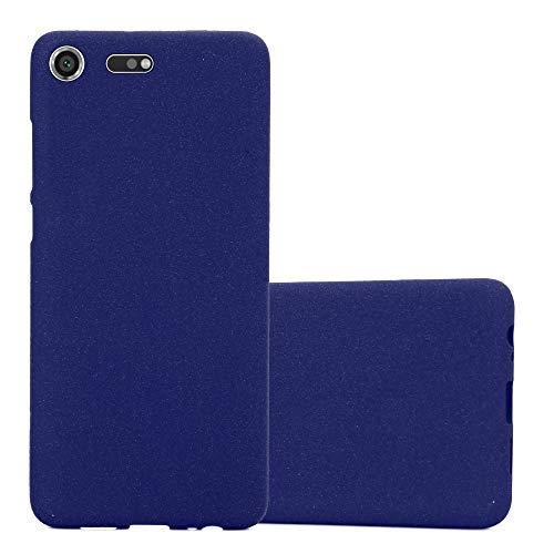 Cadorabo Funda para Sony Xperia XZ Premium en Frost Azul Oscuro - Cubierta Proteccíon de Silicona TPU Delgada e Flexible con Antichoque - Gel Case Cover Carcasa Ligera