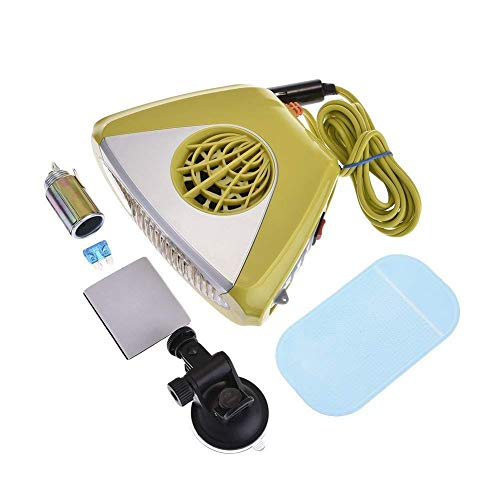 Aozzy Chauffage Voiture Ventilateur Dégivreur 12V, 2 en 1 Allume Cigare Chauffage Voiture Et Demister,Chauffage Voiture Ventilateur Dégivreur Pare-Brise Portable Réchauffeur.