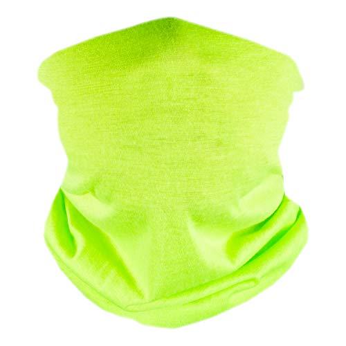 V by Vye | Neck Gaiter Bandana Face Scarf Mask for Men & Women - Lime Green